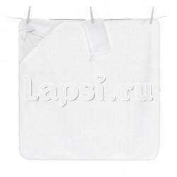 Полотенце-уголок Fiorellino Premium Baby White 90x90 см + варежка