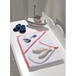 Полотенце-уголок Funnababy Marine 90x90 см + варежка