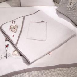 Полотенце-уголок Funnababy Beep Beep 90x90 см + варежка