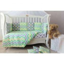 Бортики подушки в кроватку для новорожденных «Летний луг»