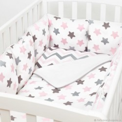 Бортики подушки в кроватку «Розовое сияние»