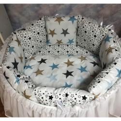 Бортики подушки на кроватку «Северное сияние»