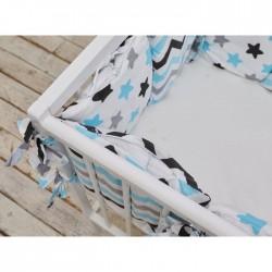Подушки бортики «Голубые звёзды»