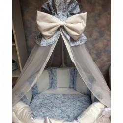 Подушки бортики для детской кроватки «Дуэт голубой»