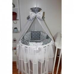 Бортики подушки в кроватку для новорожденных «Звездопад»