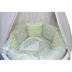 Бортики подушки в кроватку «Лужайка»