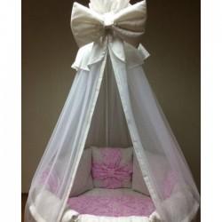 """Подушки бортики для кровати """"Розовые бантики"""""""