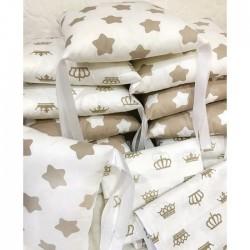 "Бортики подушечки в кроватку ""Шоколад звёзды"""