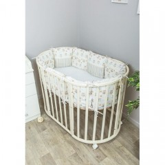Подушки бортики в детскую кроватку Сонный гномик Софушки из 12 подушек