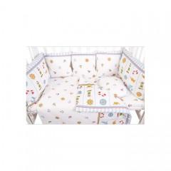 Бортики подушки в кроватку для новорожденных Сонный гномик Маяк из 10 подушек
