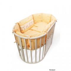 Подушки бортики в детскую кроватку Сонный гномик Оленята из 10 подушек