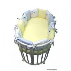 Бортик подушки в круглую кроватку Сонный гномик Конфетти из 12 подушек
