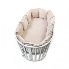Бортики подушки на круглую кроватку Сонный гномик Версаль из 12 подушек