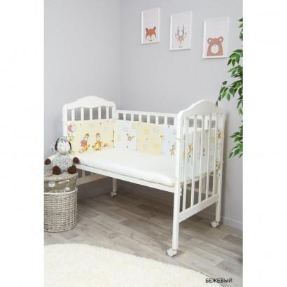 Подушки бортики в кроватку для новорожденных Сонный гномик Жирафик из 10 подушек