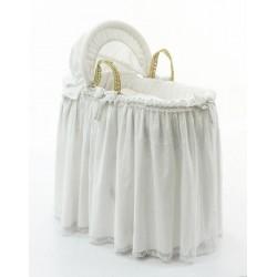 Корзина-переноска плетёная с капюшоном Fiorellino Premium Baby White