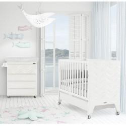 Комната для малыша №6 Micuna Mare: кроватка 120x60 + комод + чехол на пеленальный матрасик TX-1152