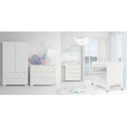 Комната для малыша №7 Micuna Mare: кроватка 140x70 + тумба + бортики и покрывало TX-1732 + сменное бельё TX-823