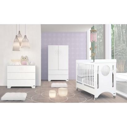 Комплект №1 Micuna Baby Balance: кроватка 120x60 + тумба + шкаф