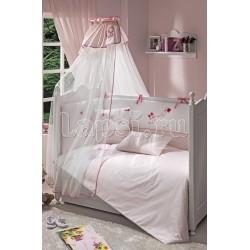Комплект №1 Funnababy Grandma: постельное бельё 120x60 5 предметов + балдахин