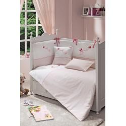 Комплект №3 Funnababy Grandma: постельное бельё 120x60 5 предметов + балдахин + абажур + занавески