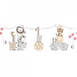"""Комплект в круглую (овальную) кроватку """"Вечеринка маленького жирафа"""" Labeille 8 предметов"""