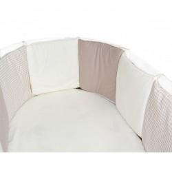 """Комплект в круглую кроватку-трансформер """"Крем-брюле"""" Labeille 8 предметов"""