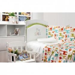 Комплект в кроватку Makkaroni Kids Giraffe 6 пр. сатин