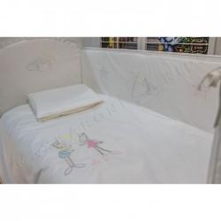 Комплект в кроватку Makkaroni Kids Horses 6 пр. сатин