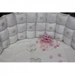 Универсальный комплект для круглой и овальной кроватки Бонбон 6 предметов