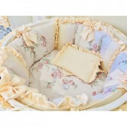 Универсальный комплект для круглой и овальной кроватки Прованс 12 предметов