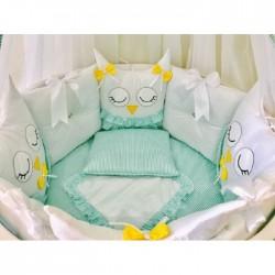 Универсальный комплект для круглой и овальной кроватки Tini Mini 11 предметов