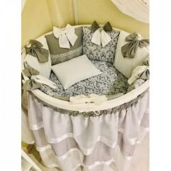Универсальный комплект для круглой и овальной кроватки Эльсити 10 предметов