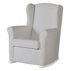 Кресло-качалка Micuna Wing/Nanny White Кожаная обивка