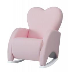 Кресло-качалка Micuna Wing/Love White Кожаная обивка