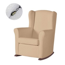 Кресло-качалка с Relax-системой Micuna Wing/Nanny Chocolate Кожаная обивка