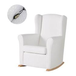 Кресло-качалка с Relax-системой Micuna Wing/Nanny Natural Кожаная обивка