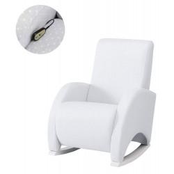 Кресло-качалка с Relax-системой Micuna Wing/Confort White Кожаная обивка