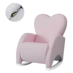 Кресло-качалка с Relax-системой Micuna Wing/Love White Кожаная обивка