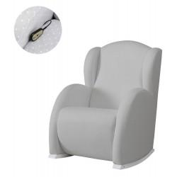 Кресло-качалка с Relax-системой Micuna Wing/Flor White Кожаная обивка
