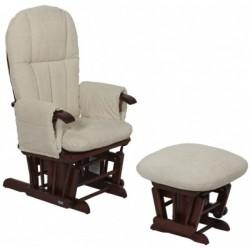 Кресло-качалка Tutti Bambini Daisy GC35 Walnut/cream с пуфом Woodland Walk