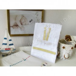 Крестильный набор для мальчика Makkaroni Kids Классика 3 пр