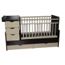 Детская кроватка-трансформер Кедр Martina 3 Giraffe (поперечный маятник)