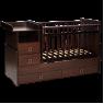 Детская кроватка-трансформер Кедр Martina 4 (поперечный маятник) прямые спинки