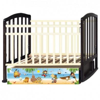 Детская кроватка с маятником Антел Алита 4 Пираты