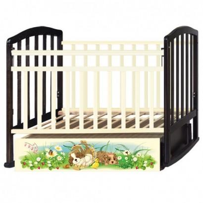 Кроватка детская с маятником Антел Алита 4 Щенки