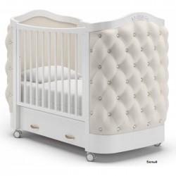 Детская кроватка на колесах Гандылян Тиффани декор стразы