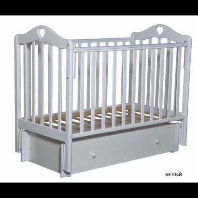Детская кроватка Кедр Karolina 4/6 универсальный маятник+ящик