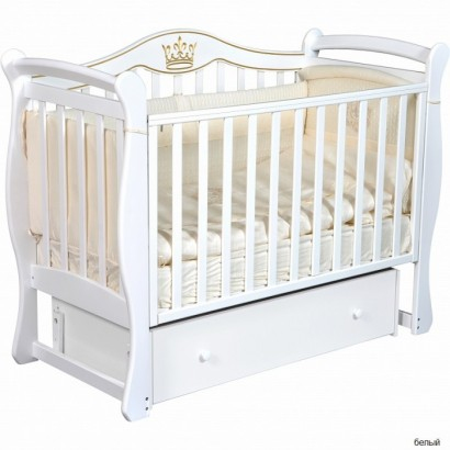Детская кроватка Кедр Grace 1 с универсальным маятником и ящиком