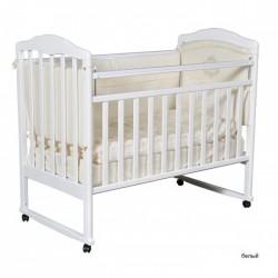 Детская кроватка Кедр Helen 1 колесо качалка