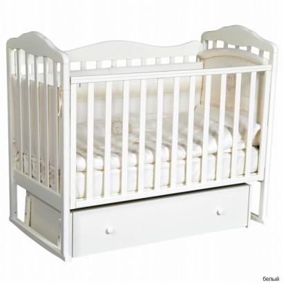 Детская кроватка Кедр Helen 4 с универсальным маятником и ящиком